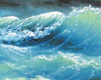 "78 - ""Indian Ocean"",  5""x 7""  original giclee print"
