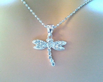 Dragonfly necklace, Cubic necklace, charm, pendant, Good Luck Charm Necklace, Cubic necklace, charm, pendant, Christmas necklace