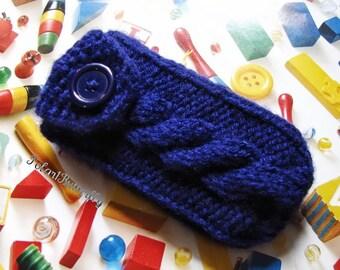 Pax Cover, Pax Vaporizer Case, Inhaler Holder, Inhaler Cozy, Inhaler Case, hand knit in Navy Blue