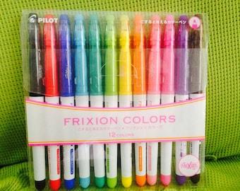 Pilot Frixion Colors Erasable Marker Pens Set -  12 Colors