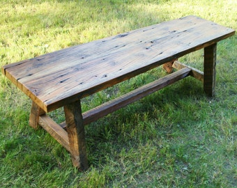 Reclaimed Trestle Bench