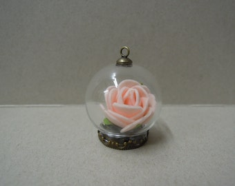 Ball Shape Miniature Glass Dome Charm