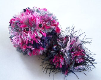 Plush Ball Monster Fuzzy Troubles Pocket Pals Set