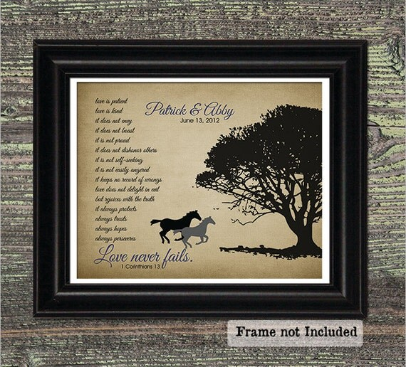 50th Anniversary For Husband Gifts: Items Similar To LOVE Never Fails, Horse Silhouette