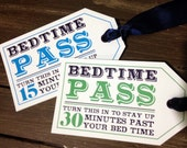 Children's Bedtime Pass | Chore Incentive | Special Treat