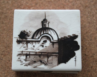 Two Vintage Porcelain Matchboxes, Talisman