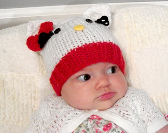 Knit Kitty Hat - Newborn