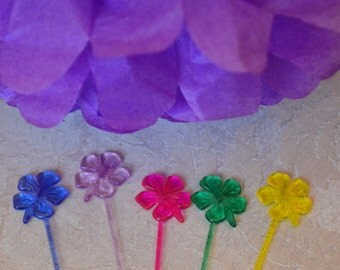 Hibiscus Cupcake Pick Set/Cupcake Toppers/Hibiscus Toppers/Hibiscus Cupcake Toppers/Toppers