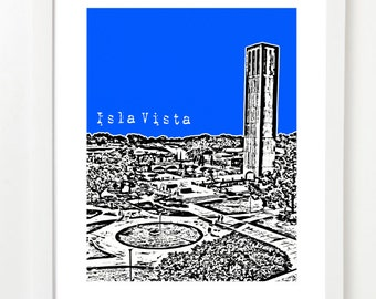 Isla Vista California Poster - Santa Barbara Art - Santa Barbara Graduation Gift
