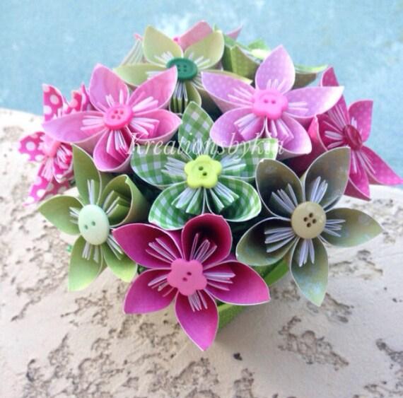 jardin d 39 eden kusudama origami fleur bouquet flower. Black Bedroom Furniture Sets. Home Design Ideas
