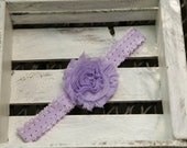 Shabby Flower Headband (Lavender)