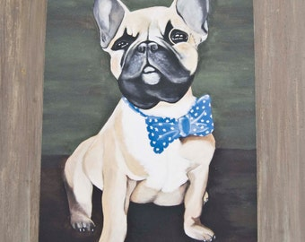 Sir Henry-French Bulldog Portrait/ Fine Art Print