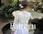 Knitting pattern - Girls Lace Shrug with ribbon 1 - 10years  - Listing62