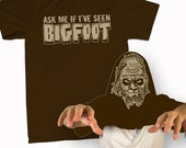Ask Me If I've Seen BigFoot T-Shirt Funny Sasquatch Squatchin Costume Flip Over Tee Shirt Tshirt Mens Womens S-3Xl Great Gift Idea