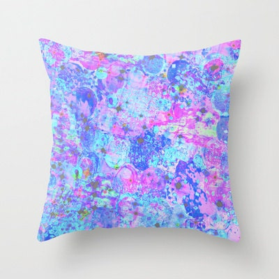 Purple And Pink Decorative Pillows : TIME FOR BUBBLY, Again Pillow Cover, 16x16 18x18 20x20 Pink