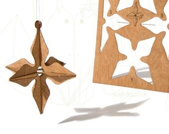 postcard wood - 3 3D-star cards