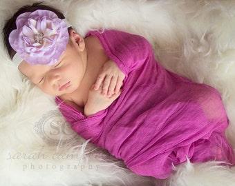 lavender headband..baby girls lavender headband.. girls lavender headband