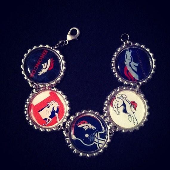denver broncos charm bracelet broncos gift broncos jewelry