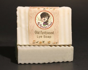 Old Fashioned Lard Lye Soap Unscented Cold Process