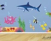 Ocean Room Wall Decals, Kids Ocean theme Wall Stickers