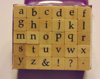 small alphabet stamp set, 9 mm (SB1)