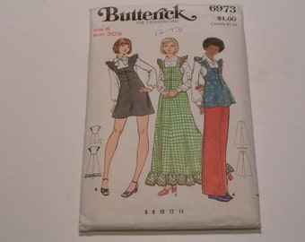 Vintage Butterick Pattern 6973 Miss Jumper Tunic Pants