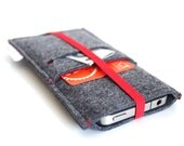 iPhone 6 case, iphone 6s case/ iPhone 6s Plus Case/ Apple iPhone case/ Samsung case/ Nexus case- Elastic Collection- Charcoal Grey & Red