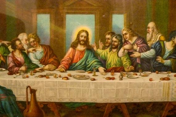 Vintage Zabateri Last Supper Framed Print 950 S