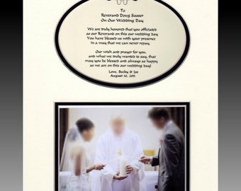 Wedding Priest Pastor Reverend Thank you personalized Bridal Party Gift Favor