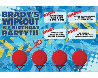 WIPEOUT Birthday Invite