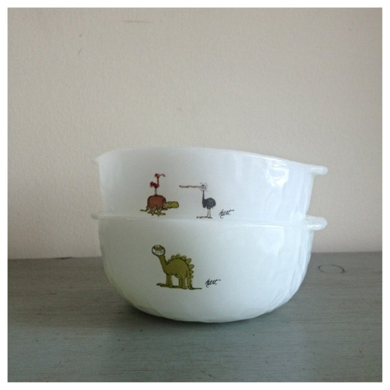 Vintage Anchor Hocking Fire King Childs Cereal Bowl White