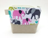 Reusable Snack Bag - Elephant Walk in Orchid
