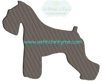 Schnauzer Silhouette Dog Machine Embroidery Design