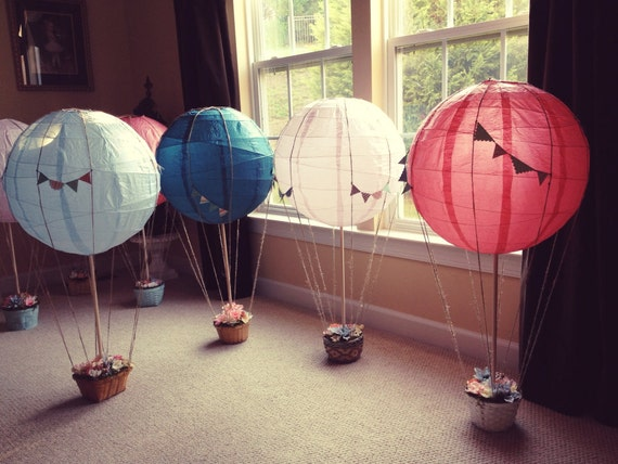 Items similar to hot air balloon centerpieces