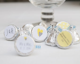 Printable Hershey's Kisses Labels - Engagement, Wedding Chocolate Wrappers, kiss labels