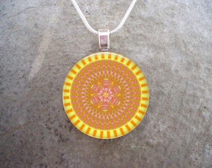 Mandala Jewelry - Glass Pendant Necklace - Mandala 12 - RETIRING 2017