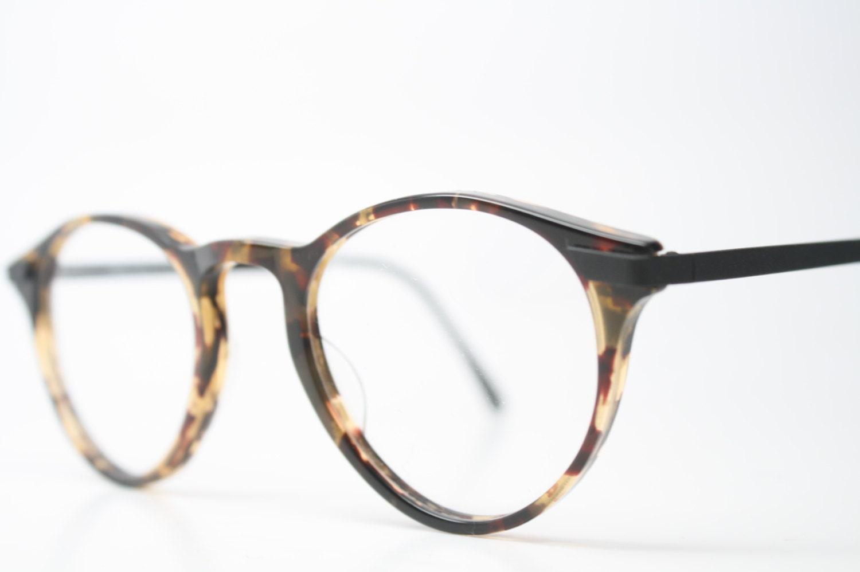 Unusual Designer Eyeglass Frames : Unique Vintage Tortoise P3 Eyeglass Frames Retro Eyeglasses
