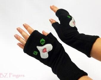 Cat Gift. Custom Fingerless Gloves for Cat Lovers