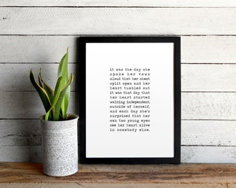 Wedding Vows Poster Print • Vintage Inspired Typewriter Original Poem • Vows, Wedding Gift, or Custom Typewriter Print