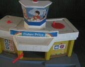 Vintage Fisher Price toy airport, 1980's model #933
