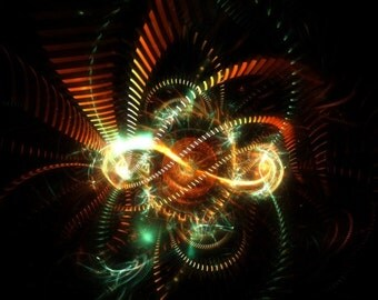 Silent rush - fractal artwork digital download, original home / interior decoration