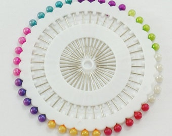1 set of iron pins with colored acrylic balls-2230