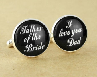 Custom Cuff Links, Personalized father of the bride wedding date cufflinks, Wedding cuff links, Groom cuff links, bestman cuff links-016