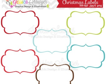 INSTANT DOWNLOAD, christmas labels, tag clipart, printable labels, christmas, cards, invitations,  scrapbook, digital frames