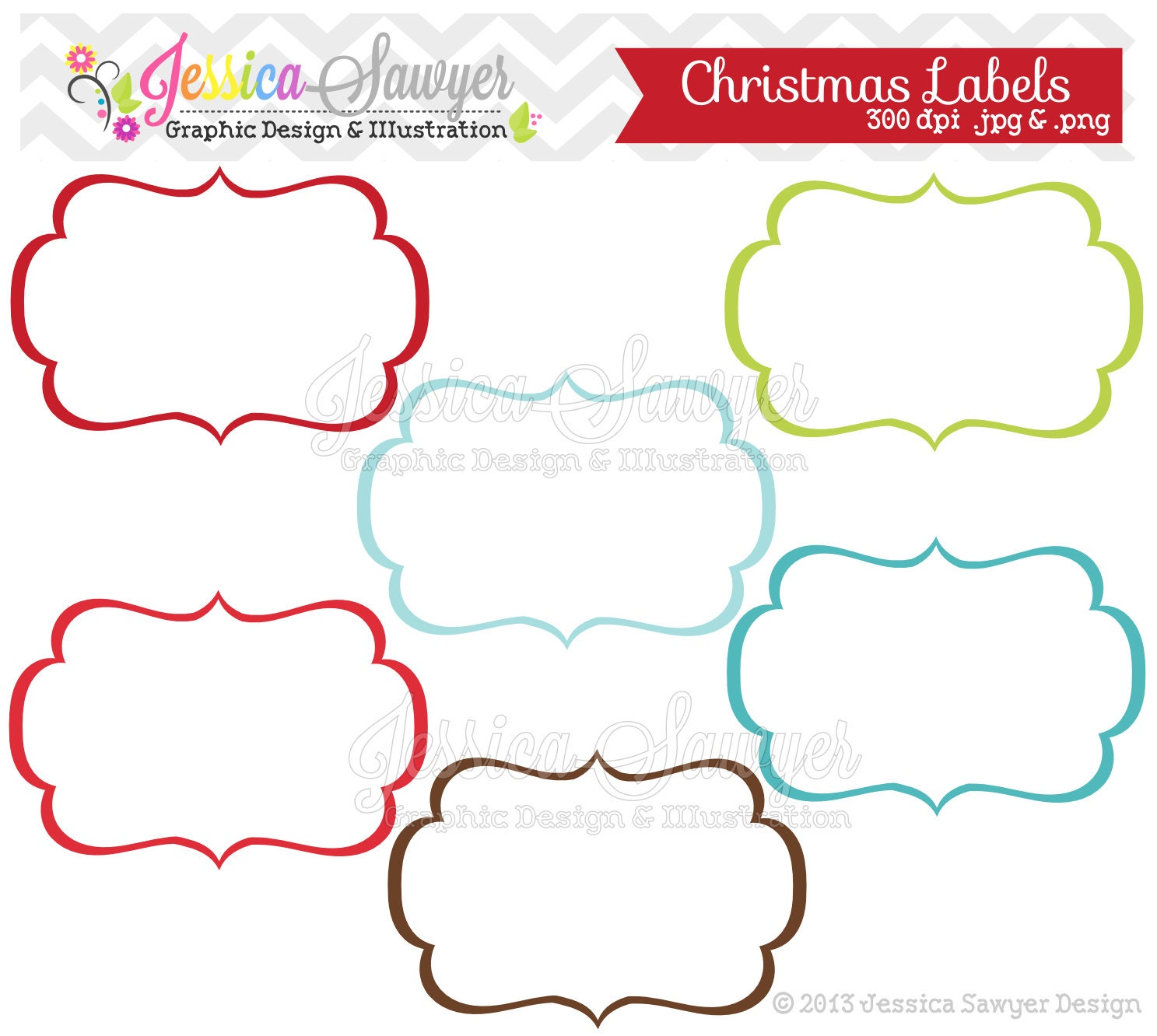 INSTANT DOWNLOAD, christmas labels, tag clipart, printable labels ...