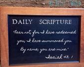 Daily Scripture Chalkboard (Maple Wood)