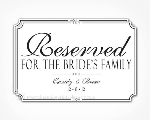 reserved seating signs template - unavailable listing on etsy