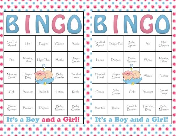 Bingo De Baby Shower En Espa 241 Ol Imagui