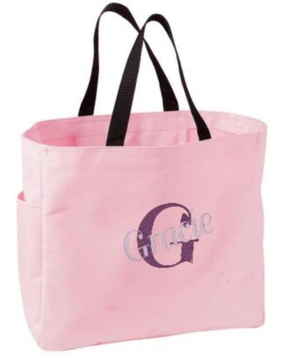 6 Bridesmaid Gift Personalized Tote Bag Bridesmaids Monogram Bags Wedding Party Gifts Custom