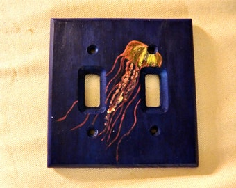 Hand Painted Jellyfish Light Switch Plate Cover